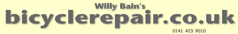 Willy Bain's Bicycle Repair - Tel: 0141 423 9010