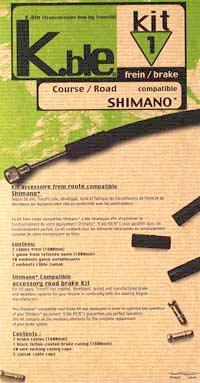 Transfil Shimano compatible brake kit (MTB)