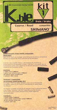 Transfil Shimano compatible brake kit (ROAD)